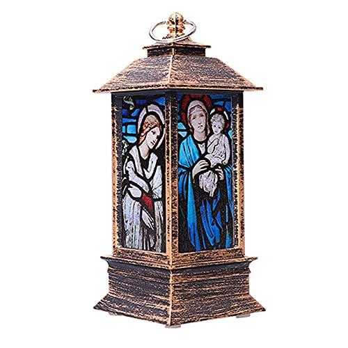 MagiDeal Lanterne Decorative per Candele Natalizie con Lanterne di Gesù per Interni ed Esterni - Colore Rame
