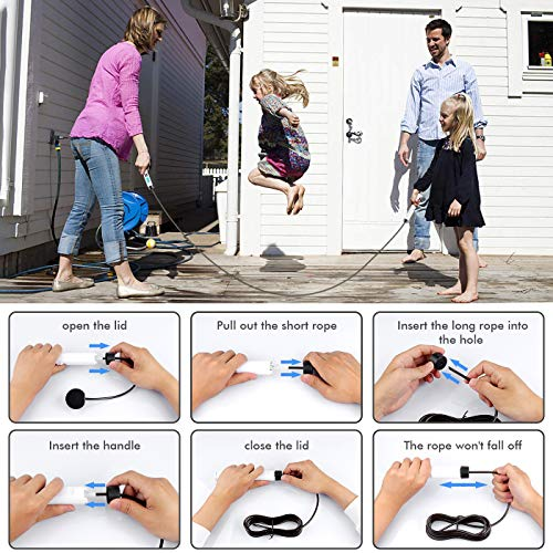 Dual Mode Skipping Rope, Speed Jump Rope with LED Digital Calorie Counter, 2.8M Weighted Skipping Rope with Non-Slip Handle for Adult Fitness, Suitable for Indoor & Outerdoor Battery Included.