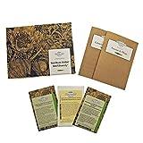 Varietà di basilico - set regalo di semi con 3 varietà di basilico molto diverse e aromatiche