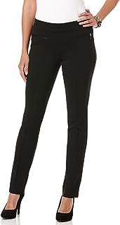 Rafaella Women's Petite Ponte Comfort Slim-Leg Pant