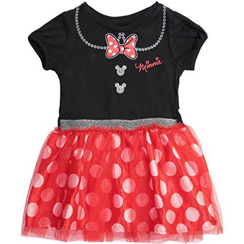 Disney Minnie Mouse Toddler Girls Short Sleeve Dress Tutu Skirt 3T