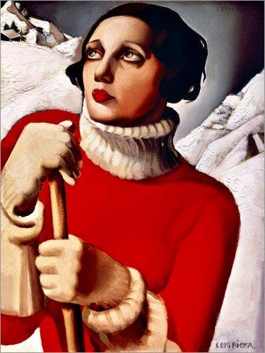 Posterlounge Hartschaumbild 70 x 90 cm: Saint Moritz von Tamara de Lempicka/Museum Masters...