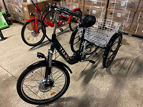 ADULTS ELECTRIC TRICYCLE BY MAK CYCLES 24' 3 WHEELED WHEEL LIGHTWEIGHT ALUMINIUM...