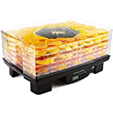 Andrew James Food Dehydrator Machine Digital Food Preserver Snack Dryer | Adjustable Thermostat