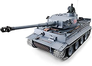 Heng Long Pro Edition TK6.0 RC Tank 1:16 German Tiger I RC Heavy Tank w/ Infrared Battle System, Remote Control 2.4Ghz RC Tanks That Shoot Airsoft BBS, Steel Alloy Gearbox, Metal Wheels Tracks