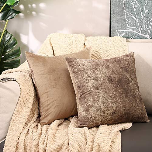 Basic Model Fundas de cojín originales de Tie Dye en 2 colores, juego de 2 fundas decorativas, muchos colores, fundas de cojín, fundas de lujo para dormitorio, salón, sofá, cama, 40 x 40 cm