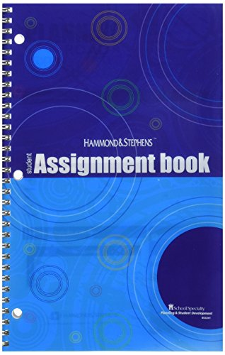 Hammond & Stephens Daily Student Assignment Planner, 7 x 11 Inches, 192 Pages