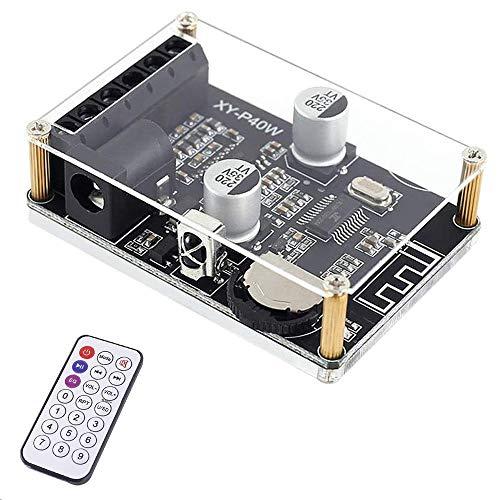 PEMENOL Bluetooth 5.0 Verstärkerplatine 40W 30W 20W Digital Stereo 2-Kanal Mini Audio Drahtlos Verstärkermodul Lautsprecher Bausatz 5V 12V 24V Empfänger Receiver mit Fernbedienung for DIY Speaker
