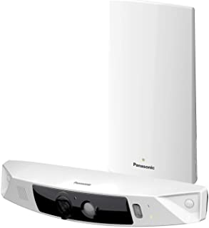 PANASONIC HomeHawk Home Monitoring HD Front Door Camera, Simple Wire-free Setup, No Fees or Cloud Service Needed, Mobile App Alerts, Color Night Vision, 2- Way Talk, Works with Alexa (KX-HN7001W)