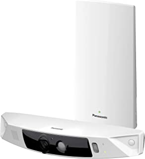 Panasonic HomeHawk Outdoor Wireless Smart Home Security Camera, Wide Angle View, Color Night Vision, 2-Way Talk, Works with Alexa & Google Assistant, 1 Camera Kit (KX-HN7001W)