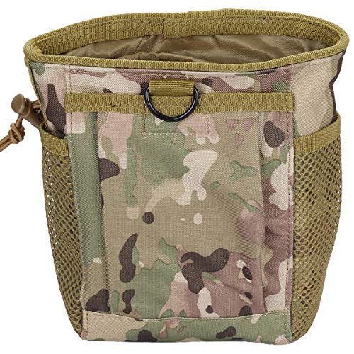 Sportmusies Tactical Molle Pouches, Outdoor Medical Utility Pouch Hanging Waist Bag Multicam Camo