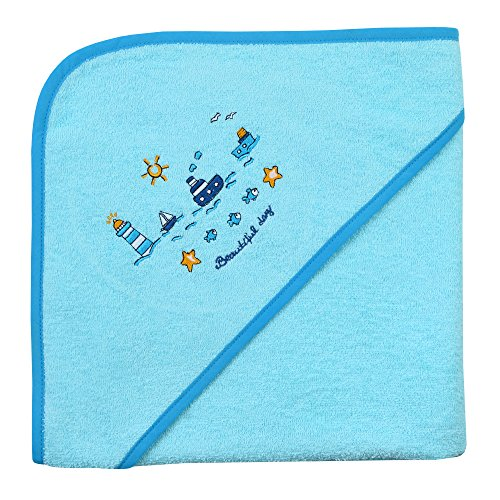 Mauz by wörner baby phare mint «bavoirs, serviettes de bain et gant de bain poncho, Vert menthe, Kapuzenbadetuch 100x100 cm