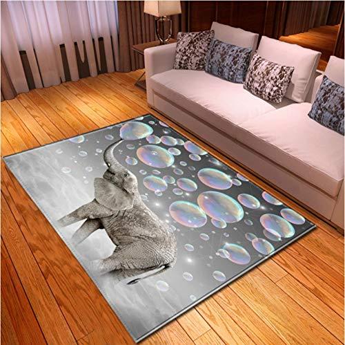 LGXINGLIyidian Alfombra Mundo Animal Creativo Y Genial. Alfombra Suave Antideslizante para Decoración del Hogar Impresa En 3D P1419E 180X200Cm