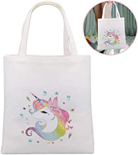 Lingpeng Unicorn Tote Bag for Girls Unicorn Party Gifts,Unicorn shopping Bag/Grocery Bag/Beach Bag/School Bag/Office Bag (Style B)