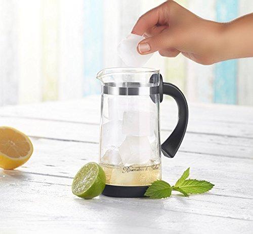 Rosenstein & Söhne Eistee Teebereiter: Eistee- & Tee-Bereiter-Kanne mit Komfort-Brühfunktion, 700ml (Eisteezubereiter) - 7