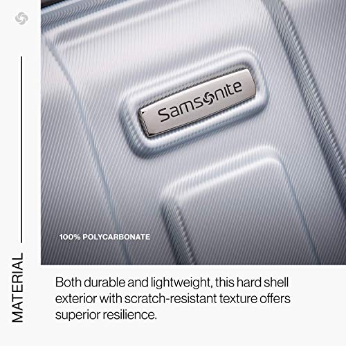 Samsonite Centric Hardside Expa   ndable Luggage with Spinner Wheels, Silver, Carry-On 20-Inch