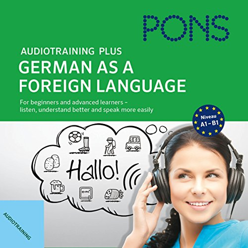 Audiotraining Plus - German as a foreign language audiobook cover art