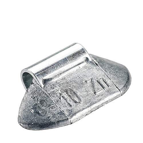 Poids marteau jante en acier 10g | 100x poids marteau non revêtus | Poids d'équilibrage jante en acier