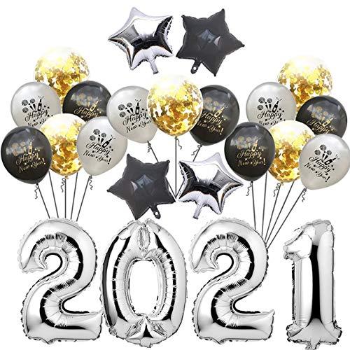 Globo de Papel de Aluminio Feliz año Nuevo decoración navideña-Set1