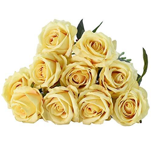 PPLAX 5/10 Piezas de 8 cm Seda Artificial Francés Rosa Floral Ramo...