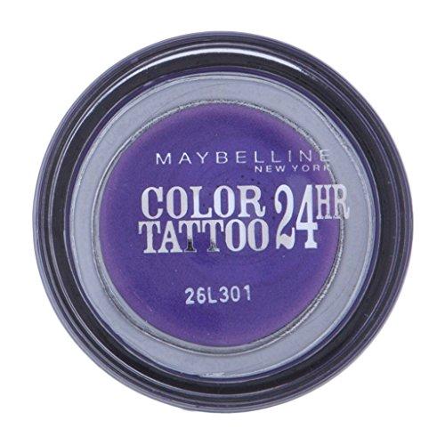 Maybelline New York Lidschatten Eyestudio Color Tattoo 24h Endless Purple 15 / Gel-Cream Eyeshadow Lila metallic, langanhaltend, 1 x 4 g