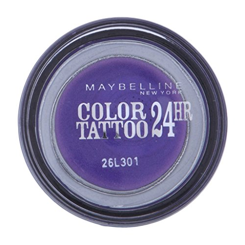 Maybelline New York Lidschatten Eyestudio Color Tattoo 24h Endless Purple 15 / Gel-Cream Eyeshadow Lila metallic, langanhaltend, 1 x 4 g