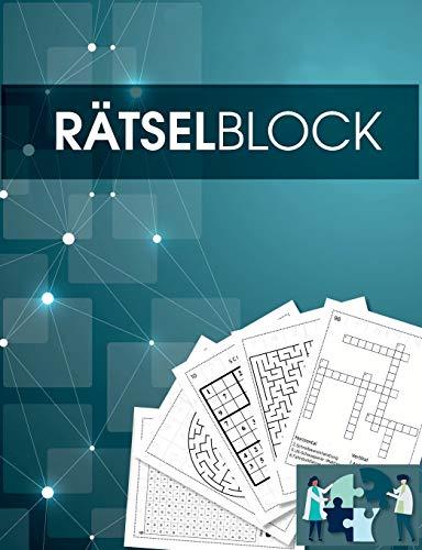 Rätselbuch und Rätselblock für Erwachsene und Senioren - Sudoku, Kreuzworträtsel, Logikrätsel, Wortsuch-Rätsel und viele mehr - Rätsel im Großdruck - ... und Rentner geeignet: Über 100 neue Rätsel