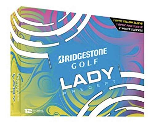 Bridgestone Lady Golf Balls - 1 Dozen (3 Yellow, 3 Pink, 6 White)