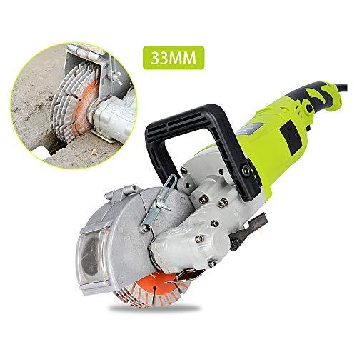 Elektrische Wand Chaser Betonschneider 220 V 4KW 125 MM 7500r / min Klinge Ziegel Granit Marmor Wand Stoßmaschine