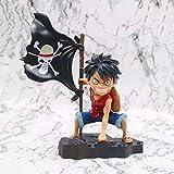 QIYHB One Piece Anime Figure Luffy avec Drapeau Singe D.Luff