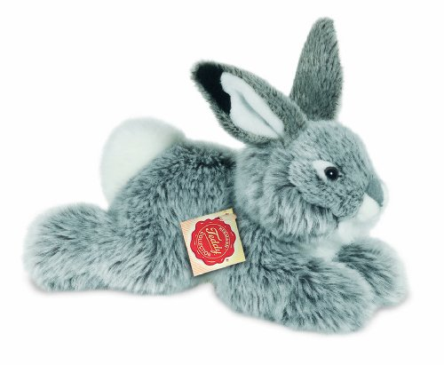 Hermann Teddy Collection 937531 - Plüsch-Hase liegend, 28 cm, grau