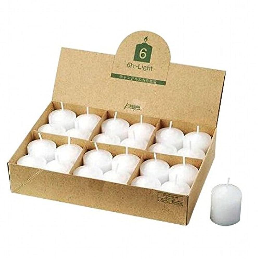 ビリーヤギ仮装クリアkameyama candle(カメヤマキャンドル) 6Hライト(6時間タイプ)24個入り(日本製)(77960099)