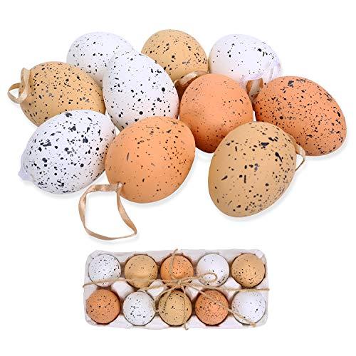 FORMIZON 10 Huevos de Pascua, Colorida Decoración de Pascua, Huevos de Pascua Juguetes Favores de Partido, Ideales para la búsqueda de Huevos de Pascua Manualidades