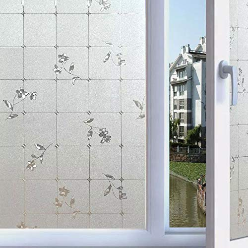 LMKJ 3D opaque private window sticker glass film electrostatic glue-free anti-ultraviolet frosted home glass decorative film A62 60x100cm