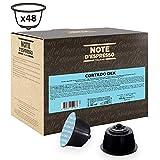 Note D'Espresso - Cápsulas de café cortado Dek instantáneo Exclusivamente Compatibles con cafeteras de cápsulas Nescafé* y Dolce Gusto* 6,3g (caja de 48 unidades)