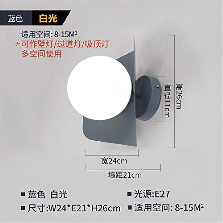 StiefelU LED Wandleuchte nach oben und unten Wandleuchten Schlafzimmer Wand lampe Nachttischlampe im Wohnzimmer an der Wand W24 e21h26 cm, blau-weies Licht