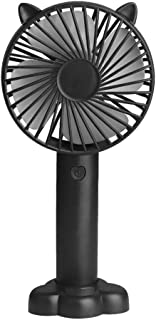 TY-UNLESS Mini ventilador portátil de carga USB enfriador de mano 3 velocidades ajustables, negro, tamaño único