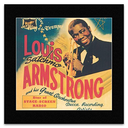 Stick It On Your Wall Mini-Poster Louis Armstrong – Der König der Trompete – 28,5 x 28,5 cm