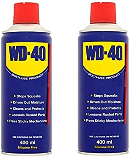 WD-40 Multi-Use Product Spray Double Saving, 400 ml, with Straw, Pack of 2