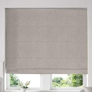 Blinds2Curtains Beige 120H x 160W Cm Makayla Linen Roman Window Blinds