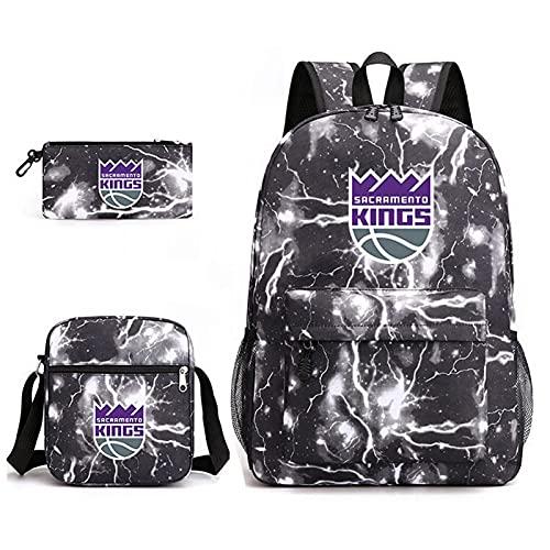 AGLT Mochila de baloncesto para aficionados al equipo de baloncesto, para gimnasio, deporte, lona, suministros escolares, bolsas de carga USB, puerto R1