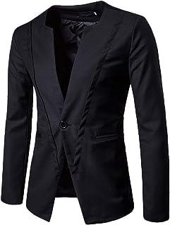 Slim Fit Leisure Mens Blazer Blazer Wedding Party Mens Comfortable Sizes Black Gray Casual Blazer Single Breasted One Butt...