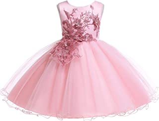 537d4f4e4 LZH Baby Girl Dress Formal Christening Baptism Gowns Pageant Dress Toddler