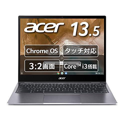【Amazon.co.jp 限定】日本エイサー Google Chromebook Acer ノートパソコン Spin 713 CP713-2W-A38Q/E 13.5インチ 360°ヒンジ 英語キーボード Core i3-10110U 8GBメモリ 128GB eMMC タッチパネル搭載 米軍用規格(MIL-STD 810G)準拠 耐衝撃モデル