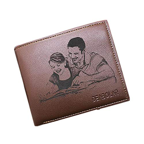 Carteras de Fotos Personalizadas Carteras de Tarjetas de crédito para Hombres Monedero de Bifold para...