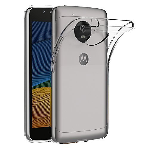AICEK Lenovo Moto G5 Case, Transparent Silicone Cover for Motorola Moto G5 Bumper Covers Clear Case
