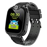 Kids Smartwatch Girls and Boys,Colorful Touch Screen Waterproof Smartwatch with Camera Games Alarm Touch Screen SOS Call Voice Chatting Christmas Birthday Gift Students Teens (Black)
