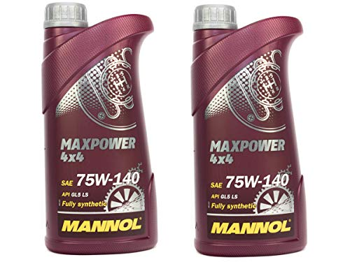 MANNOL Getriebeöl Maxpower 4x4 75W-140 API GL 5 LS 2 Stück á 1 Liter
