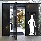 JXAA Famoso Comediante muletas murales de Arte decoración para el hogar Citas Casual Interior Comedia Pegatinas Rey 42x105cm