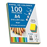 Dohe 30170 - pack de 100 papeles a4, 80 g. , multicolor intenso